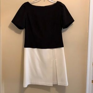 Black house white market shirt sleeve dress